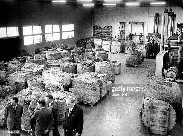 Zigarettenfabrik in Berlin-Spandau:Das Rohtabaklager1966