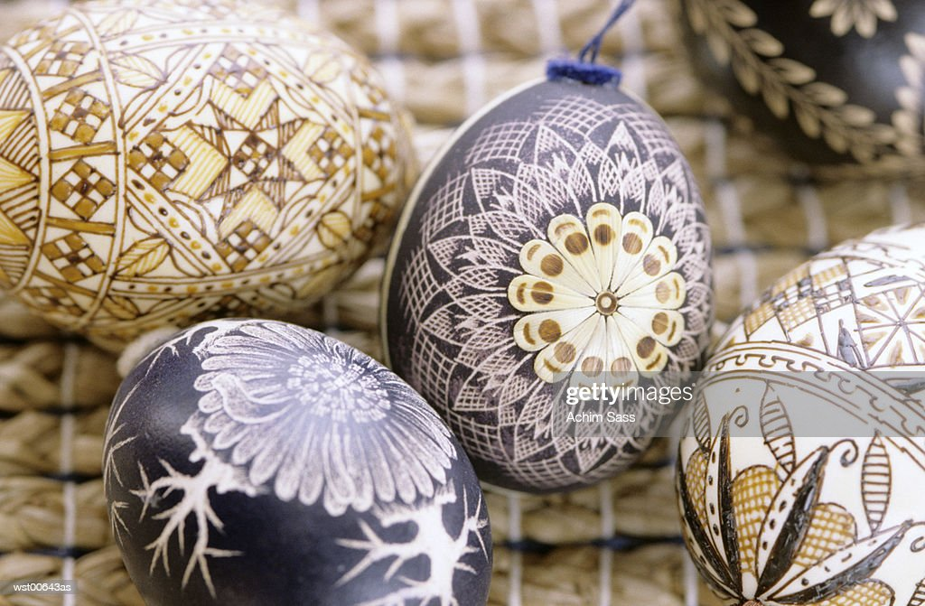 Bauble, Easter eggs, close up : Stock Photo