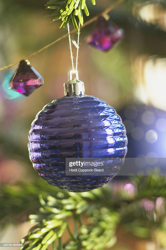 Bauble on Christmas Tree : Stock Photo