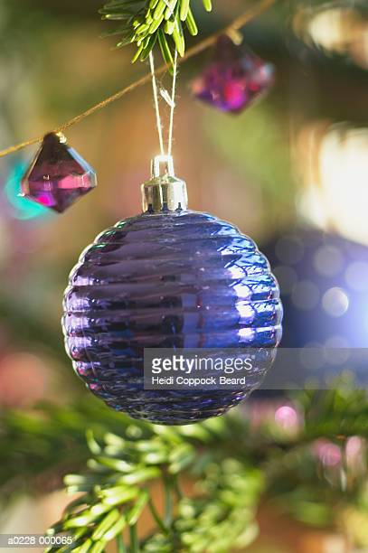 bauble on christmas tree - heidi coppock beard stock pictures, royalty-free photos & images