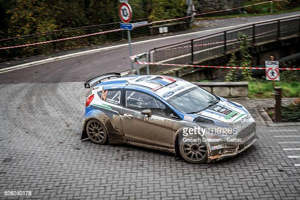 Baugnet and Cuvelier in the Ford Fiesta R5 in action during the 42e Rallye Du CondrozHuy in Huy Belgium on November 7 2015
