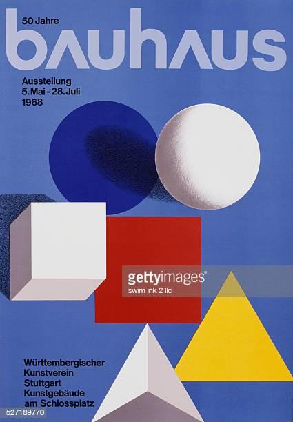 Bauhaus 50th Anniversary Poster by Herbert Bayer