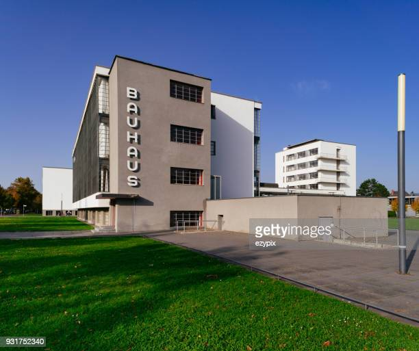 bauhaus dessau - side view - saxony anhalt stock pictures, royalty-free photos & images