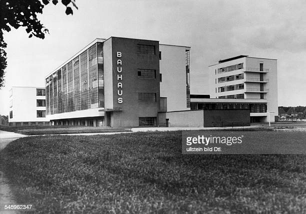 Bauhaus DessauAussenansicht um 1932