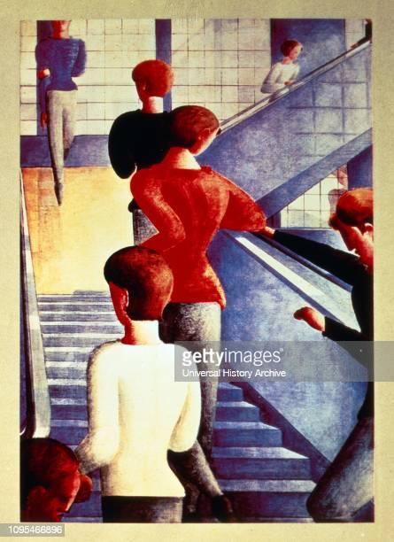 Bauhaustreppe by Oskar Schlemmer Oil on canvas Oskar Schlemmer German painter sculptor designer and choreographer associated with the Bauhaus school...