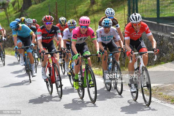 Bauke Mollema of The Netherlands and Team Trek Segafredo / Brent Bookwalter of The United States and BMC Racing Team / Pierre Rolland of France and...