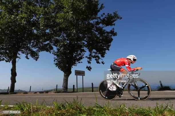 Bauke Mollema of The Netherlands and Team Trek Segafredo / Cobreces Village / Cantabrico sea / during the 73rd Tour of Spain 2018 Stage 16 a 32km...