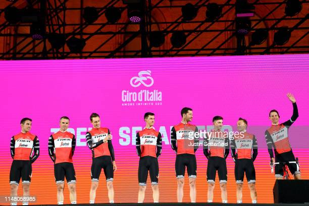 Bauke Mollema of The Netherlands and Team Trek - Segafredo / Gianluca Brambilla of Italy and Team Trek - Segafredo / Giulio Ciccone of Italy and Team...