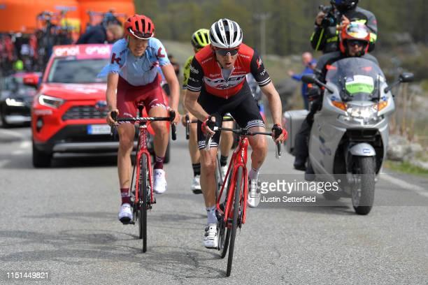 Bauke Mollema of The Netherlands and Team Trek - Segafredo / Ilnur Zakarin of Russia and Team Katusha Alpecin / during the 102nd Giro d'Italia 2019,...