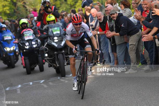 Bauke Mollema of The Netherlands and Team TrekSegafredo / Fans / Public / during the 113th Il Lombardia 2019 a 243km race from Bergamo to Como /...