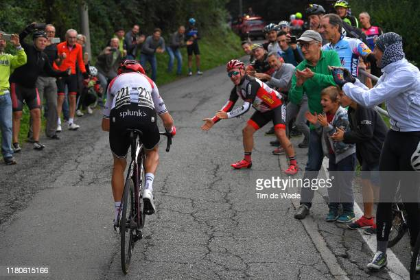 Bauke Mollema of The Netherlands and Team Trek-Segafredo / Fans / Public / during the 113th Il Lombardia 2019 a 243km race from Bergamo to Como /...