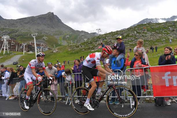Bauke Mollema of The Netherlands and Team Trek-Segafredo / Rui Costa of Portugal and UAE Team Emirates / Val Thorens / Fans / Public / Mountains /...