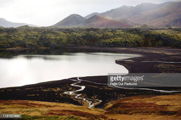 baularvallavatn lake of snæfellsnes peninsula in western iceland - feifei cui paoluzzo stock pictures, royalty-free photos & images