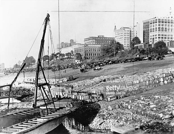 Baumwolle im Hafen von New Orleans 1937