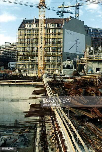 Baustelle Regionalbahnhof und Weinhaus Huth Januar 1998