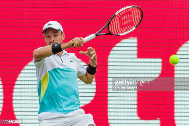 Bautista Agut controls the ball during day 1 of the tennis tournament bett1ACES at Steffi-Graf-Stadion on July 13, 2020 in Berlin, Germany.