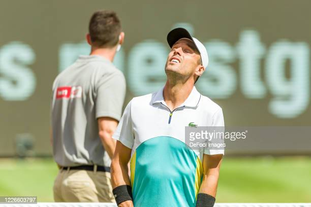 Bautista Agut looks on during day 1 of the tennis tournament bett1ACES at Steffi-Graf-Stadion on July 13, 2020 in Berlin, Germany.