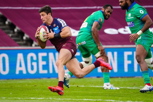 Bautista DELGUY of Union Bordeaux-Begles during the Top 14 match between Union Bordeaux Begles and Clermont at Stade Chaban Delmas on January 16, 2021 in Bordeaux, France. (Photo by Pierre Costabadie/Icon Sport via Getty Images)