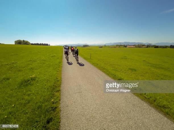 bavaria alps - roadbiking - beschaulichkeit stock pictures, royalty-free photos & images