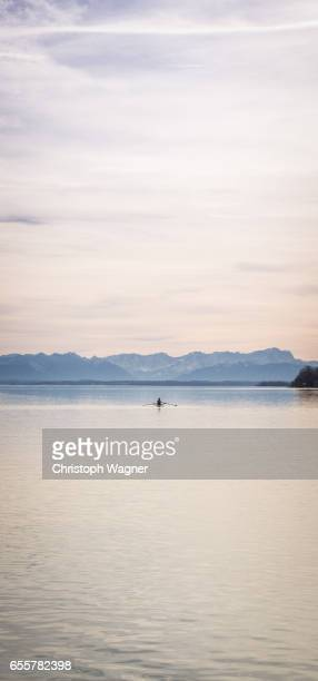 bavaria alps - rowing - sorglos stock pictures, royalty-free photos & images