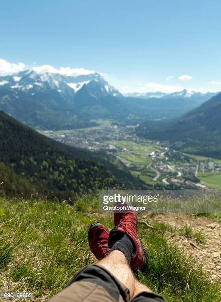 bavaria alps - wanderpause - beschaulichkeit stock pictures, royalty-free photos & images