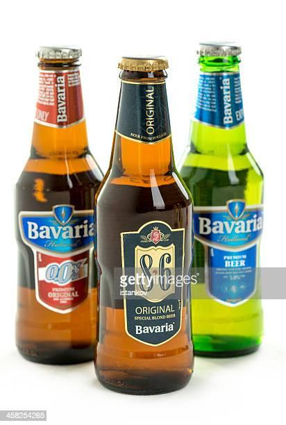 Bavaria beer on white background