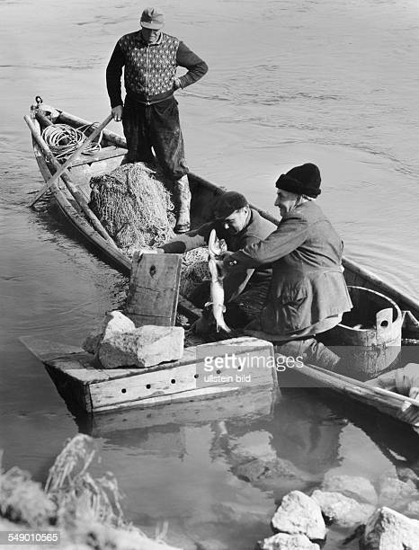 Bavaria Danube fishers early fifties