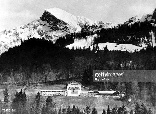 Bavaria Germany Berghof Nazi leader Adolf Hitler's chalet on the slopes of the Obersalzburg mountains