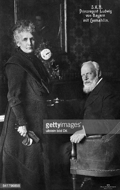 Bavaria Ludwig III of Germany*07011845 Prince of Bavaria with his wife Queen Marie Therese von OesterreichEste Photographer Franz Grainer...