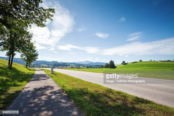 Bavaria rural landscape in summer day