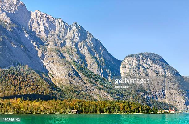 bavarian alps koenigssee - berchtesgaden alps stock photos and pictures