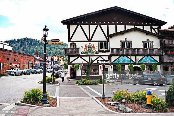 Bavarian Architecture in the streets of Leavenworth