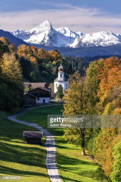 bavarian autumn landscape - 2017 stock pictures, royalty-free photos & images