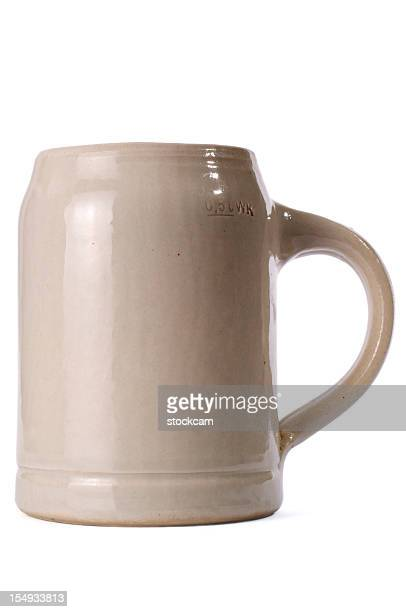 bavarian beer mug isolated on white - beer stein stock photos and pictures