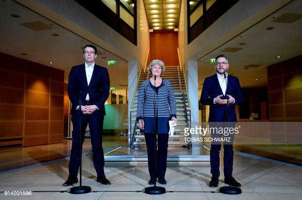 Bavarian Christian Social Union politician Markus Blume German State Secretary for Culture and the Media Monika Gruetters and member of the Social...