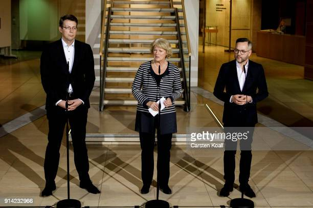 Bavarian Christian Social Union politician Markus Blume German State Secretary for Culture and the Media Monika Gruetters and politican of the Social...