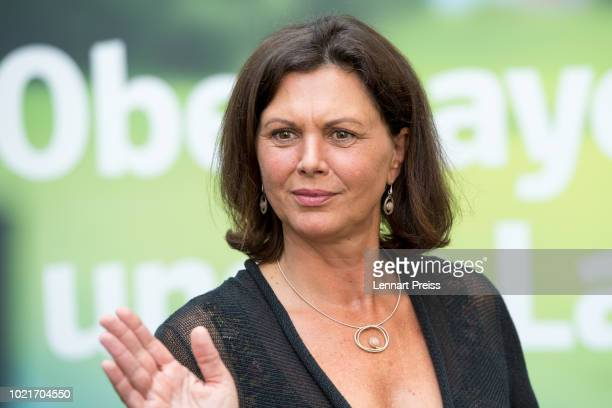 Bavarian Deputy Governor Ilse Aigner is pictured during a press conference after the presentation of a CSU election campaign poster at CSU party...