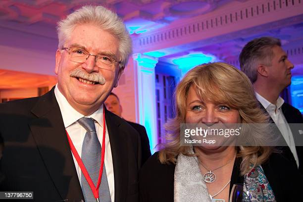 Bavarian Deputy Prime Minister Martin Zeil and Alexandra Schoerghuber attend the Burda DLD Nightcap 2011 at the Steigenberger Bellvedere hotel on...