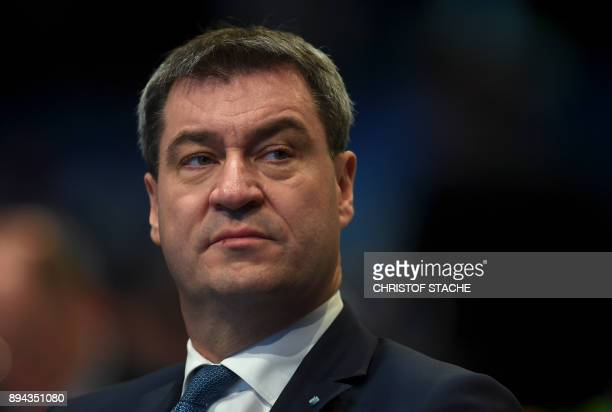 Bavarian Finance Minister Markus Soeder attends the congress of the Bavarian Christian Social Union party the Bavarian sister party of German...