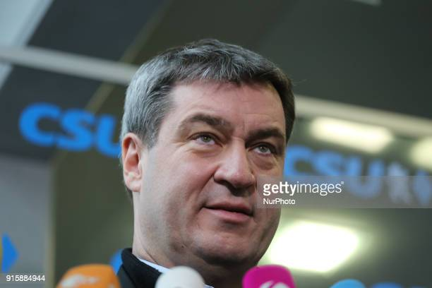 Bavarian finance minister Markus Soeder In march he will become bavarian governor The board of the Christian Social Union met to discuss after the...