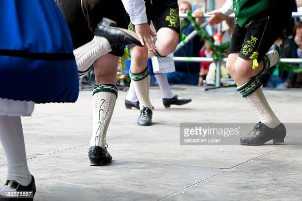 bavarian folk dance at oktoberfest in munich