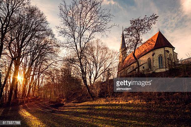 bavarian gothic little church - altötting stock photos and pictures