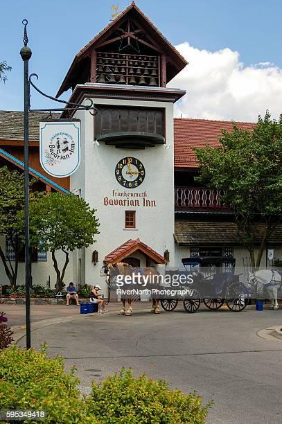 bavarian inn, frankenmuth, michigan - glockenspiel stock photos and pictures