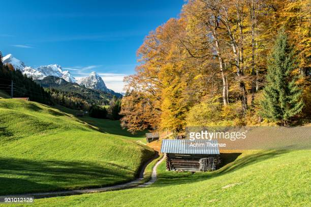 bavarian landscape in autumn, germany, europe - berchtesgaden national park stock photos and pictures