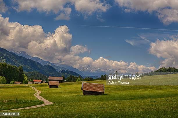 bavarian landscape - achim thomae stock-fotos und bilder