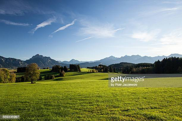 bavarian landscape - hill stock pictures, royalty-free photos & images