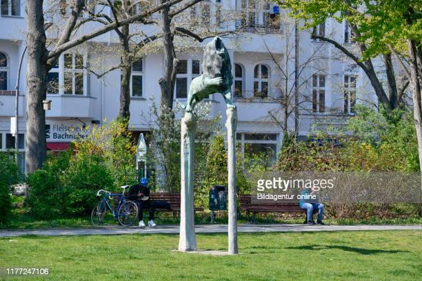 Bavarian lion, Bavarian place, beauty's mountain, Berlin, Germany, Bayerischer Lowe, Bayerischer Platz, Schoeneberg, Germany.