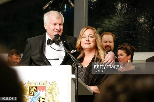 Bavarian minister Horst Seehofer and Katharina Wagner during the Bayreuth Festival 2017 State Reception on July 25 2017 in Bayreuth Germany
