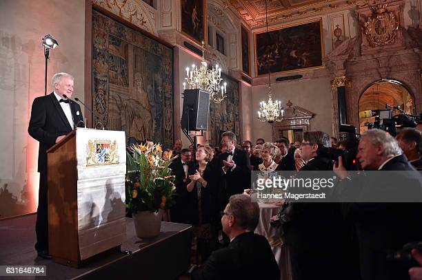 Bavarian MinisterPresident Horst Seehofer during the new year reception of the Bavarian state government at Residenz on January 13 2017 in Munich...