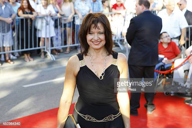 Bavarian politician Gabriele Pauli poses for the cameras on the red carpet Celebrities from politics sports and film came to Worms to see the premier...